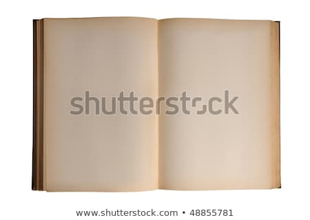 Old inside pages from a vintage book, isolated over white. Stock photo © latent