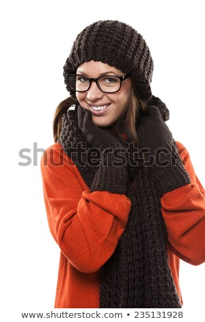 Woman with matching scarf and bonnet Stock photo © photography33