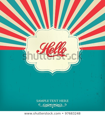 Vector retro background / template with stripes Stock photo © orson