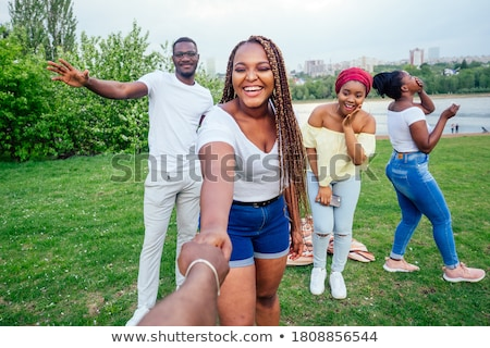 happy african party girl stock photo © fouroaks