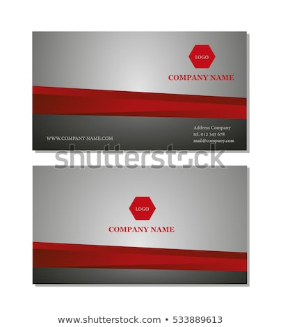 abstract buisness cards template stock photo © pathakdesigner