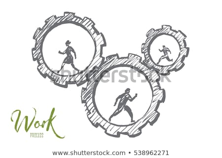 human cogwheel stock photo © alvinge