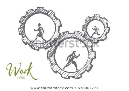 человека деловых людей COG колесо Сток-фото © Alvinge