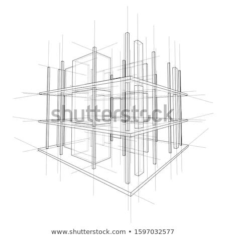 Diagrama plano azul documentação arquitetônico Foto stock © REDPIXEL