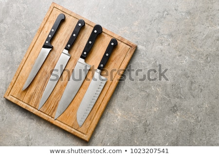 Ayarlamak bıçaklar mutfak yalıtılmış beyaz arka plan Stok fotoğraf © PaZo