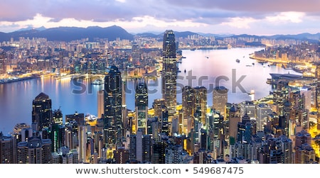 Hongkong · reggel · belváros · iroda · épület · város - stock fotó © kawing921