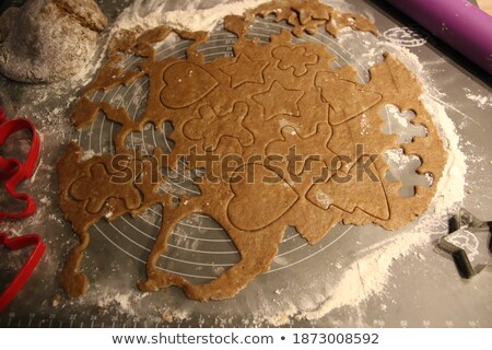 Cutted coockies on backing paper before backing Stock photo © 3523studio