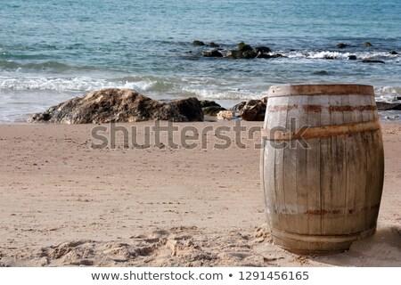 Rum houten metaal hout drinken band Stockfoto © emattil