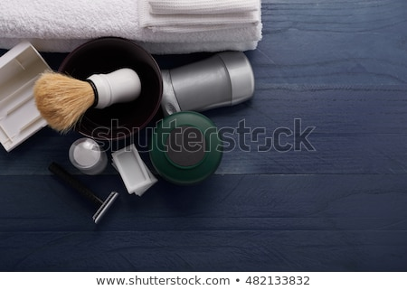 Brown-haired man with bowl Stock photo © photography33