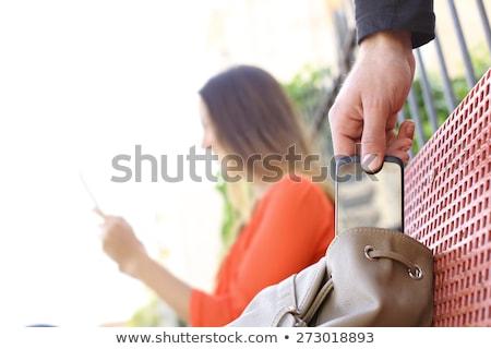 Scassinatore rubare elettronica collant testa Foto d'archivio © filmstroem