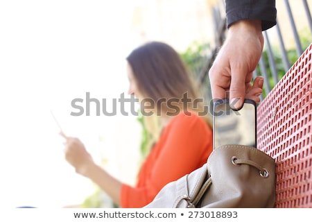 Betörő lop elektronika harisnyanadrág zokni fej Stock fotó © filmstroem