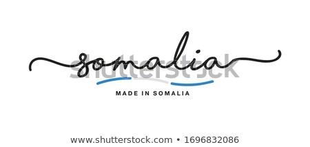 Сток-фото: письме · Сомали · служба · бумаги · аннотация · дизайна