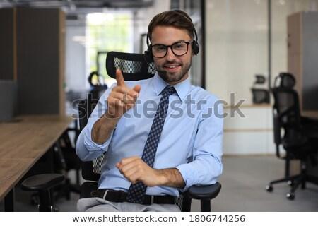 amigável · empresário · formal · bonito · sorridente · pose - foto stock © lisafx