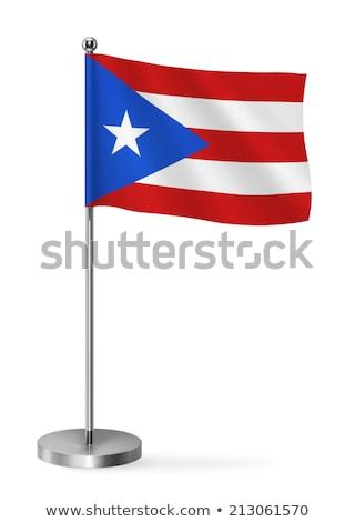 Miniatuur vlag Puerto Rico geïsoleerd vergadering Stockfoto © bosphorus