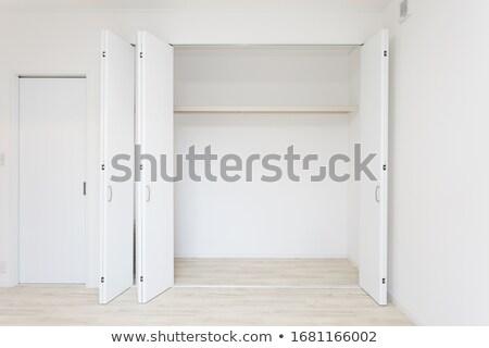 древесины · шкафу · классический · современных · комнату · интерьер - Сток-фото © iriana88w