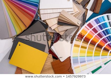 Liściastego kolor odizolowany tekstury palety Zdjęcia stock © Suljo