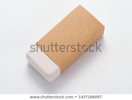 Eraser изолированный белый бизнеса бумаги школы Сток-фото © karandaev