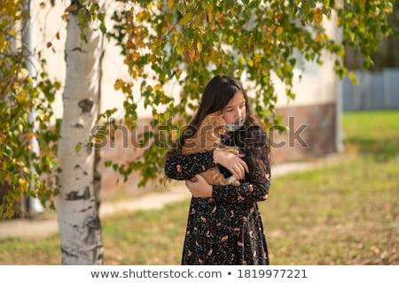 Portrait of a girl under the birch Stock photo © vlad_star