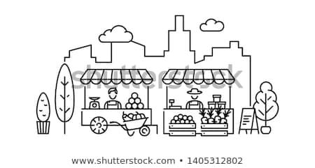 honey stall at a farmers market Stock photo © morrbyte