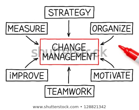 Stock photo: Change Management Flow Chart Marker