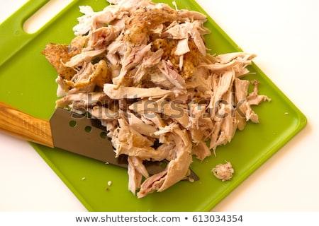 Carving Rotisserie chicken Stock photo © jarenwicklund