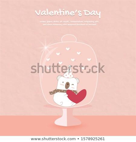 мишка · любви · очки · сердце · рождения - Сток-фото © kalozzolak