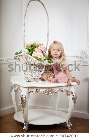 portrait of funny lovely little girl at interior stock photo © victoria_andreas