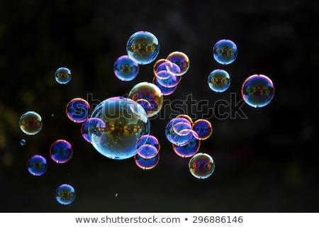 Fekete szappanbuborék textúra koktél szín benzin Stock fotó © Luppload