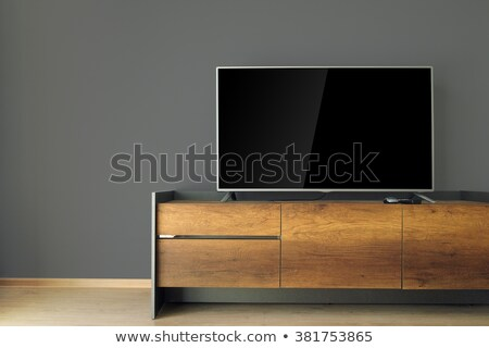 Stock photo: Wide screen modern TV set