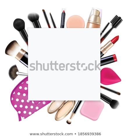 Gloss praça beleza lábios feminino rosa Foto stock © moses