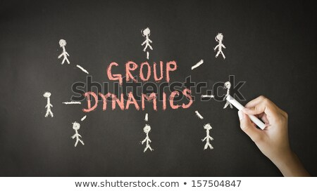 Group Dynamics Chalk Drawing Stock photo © kbuntu