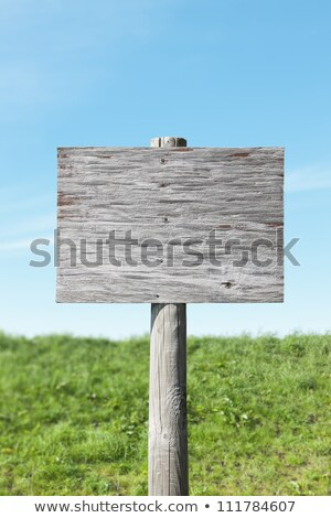 old wooden sign without a message   insert your own stock photo © inxti