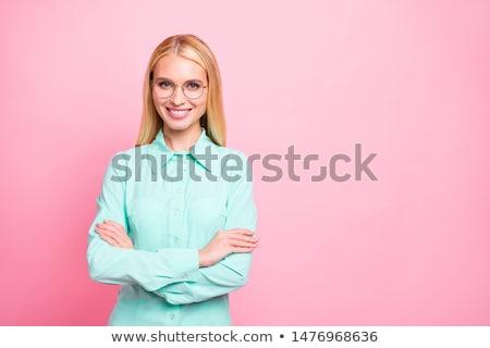 primer · plano · retrato · rubio · mujer · belleza · pecas - foto stock © chesterf