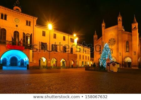 Dekore edilmiş akşam sokak İtalya merkezi Stok fotoğraf © rglinsky77