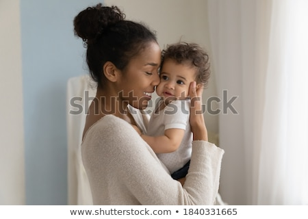 Anne çocuk kız bebek yüz Stok fotoğraf © egrafika