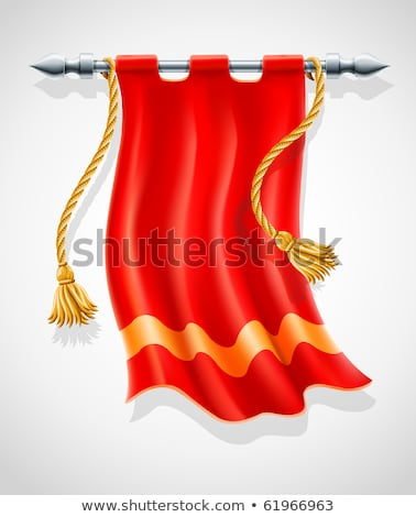 antique red flag flapping on wind Stock photo © LoopAll