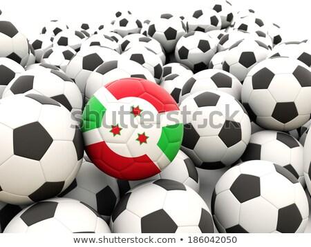 Bandeira Burundi futebol equipe país Foto stock © MikhailMishchenko