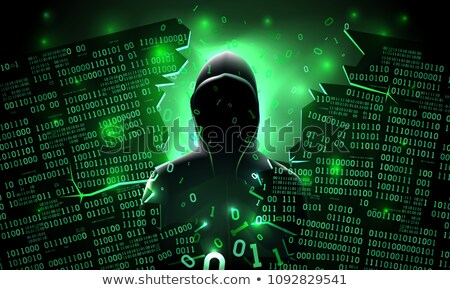 DDoS Attack on Dark Digital Background. Stock photo © tashatuvango