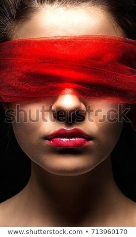 meisje · sexy · vrouw · Rood · lingerie · geblinddoekt · vrouwen - stockfoto © pxhidalgo