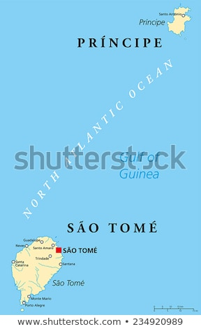 Africa map with Sao Tome and Principe Stock photo © Ustofre9