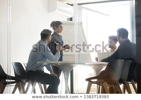 mulher · negócio · apresentação · jovem · empresária - foto stock © iko