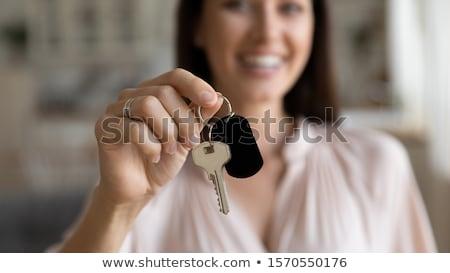 счастливым молодые деловая женщина ключевые портрет Сток-фото © williv