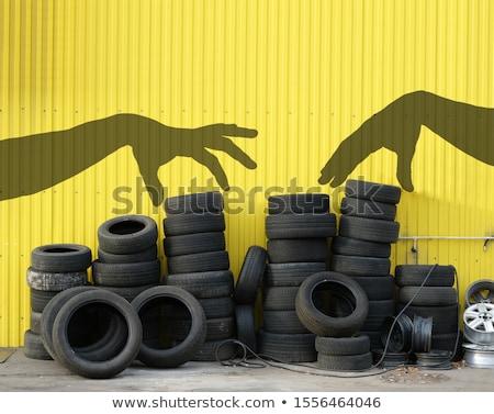 使用 · 胎 · 回收 · 老 · 輪胎 - 商業照片 © jonnysek