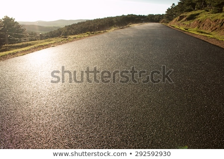Tar or Ashphalt Road and Mountains Stock photo © fouroaks