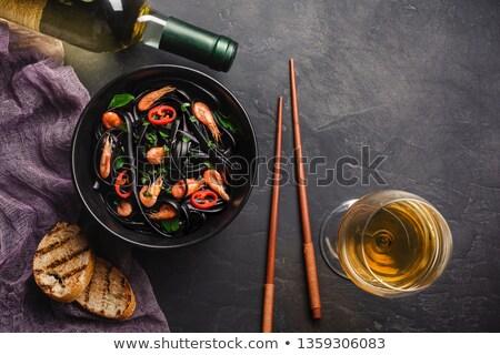 kalamar · bulaşık · akdeniz · mutfağı · gıda · balık · mavi - stok fotoğraf © m-studio