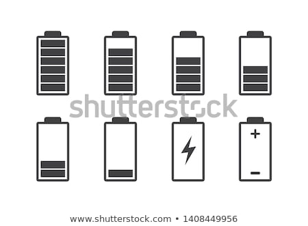 Batterie niveau design technologie signe Photo stock © kiddaikiddee