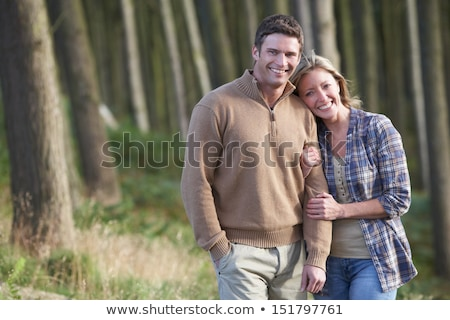 Couple On Romantic Country Walk Through Woodland Stock photo © monkey_business