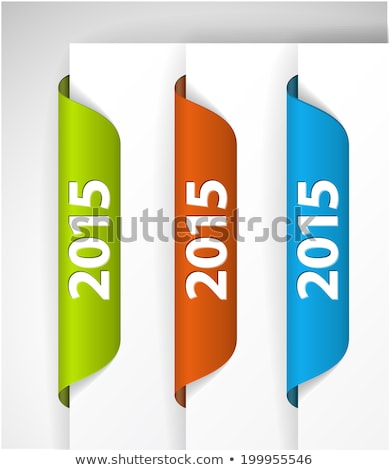 Stok fotoğraf: Vector 2015 Labels Stickers On The Edge Of The Web Page
