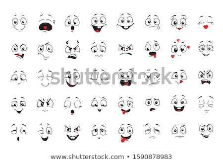 Desenho animado expressões faciais conjunto humor projeto isolado Foto stock © Voysla