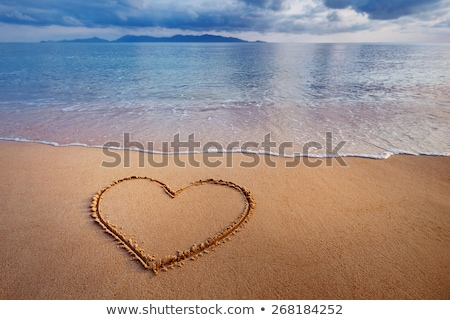 água · do · mar · areia · da · praia · sujo · mar - foto stock © cla78